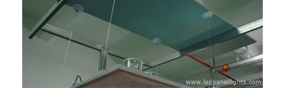 led panel light suspended installation