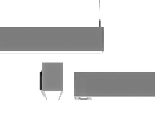 Slot 2 & 4 LED linear luminaires by Acuity's Mark Architectural