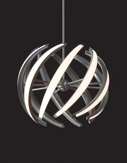 Swirl LED Pendant by Blackjack Lighting